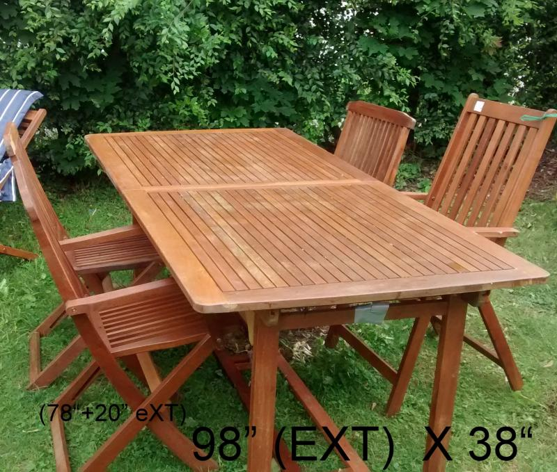 Teak Wood Patio Outdoor Furniture We Are Now Open For