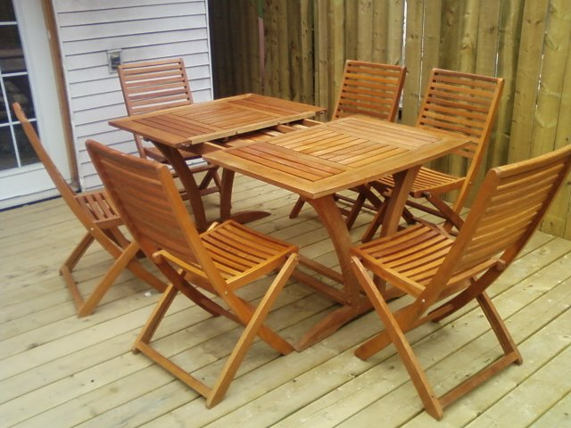 Teak wood patio outdoor furniture patio table set for Outdoor furniture toronto